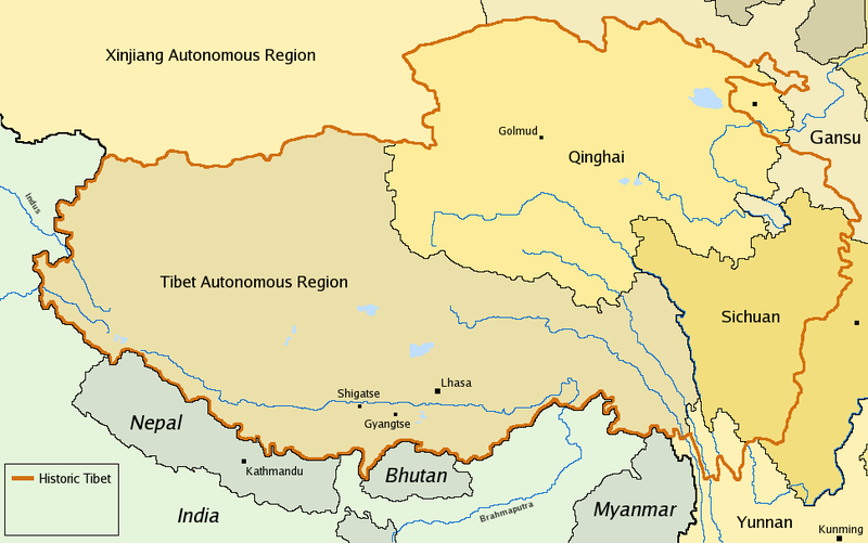 Carte Chine Avec Tibet.Vii La Question Du Tibet